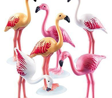 Des Playmobil flamant rose