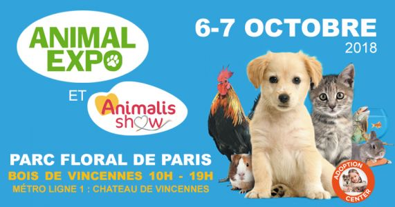 SAVE THE DATE:  Animal Expo - Animalis Show de retour les 6 et 7 octobre au Parc Floral de Paris !