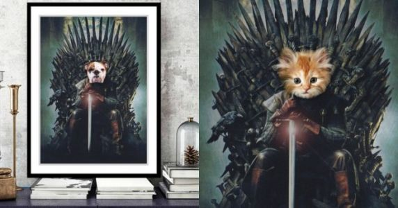 Un portrait de ton animal version Game of Thrones